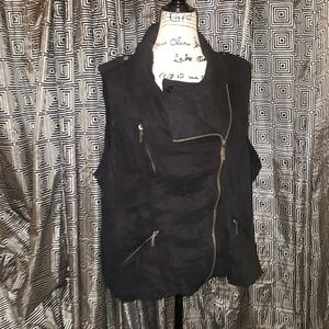 Max jeans motorcycle vest 3x or 1X nwot